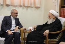 گزارش تصویری: دیدار آقای محسن حاجی میرزایی، وزیر آموزش و پرورش با حضرت آیتالله العظمی صافی گلپایگانی
