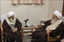 گزارش تصویری: دیدار شیخ عیسی قاسم، رهبر شیعیان بحرین با حضرت آیت الله العظمی صافی گلپایگانی