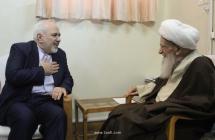 دیدار آقای دکتر ظریف، وزیر امور خارجه کشور با حضرت آیتالله العظمی صافی گلپایگانی