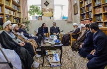 دیدار جمعی از خادمین بارگاه حضرت عبدالعظیم علیهالسلام با حضرت آیت الله العظمی صافی گلپایگانی