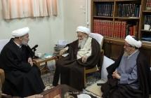 گزارش تصویری: دیدار جمعی از اعضای ستاد برگزاری کنگره مرحوم آیة الله العظمی حاج شیخ مرتضی حائری (ره)