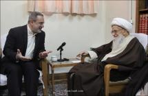 گزارش تصویری: دیدار آقای سید محمد بطحایی،  وزیر آموزش و پرورش با حضرت آیتالله العظمی صافی گلپایگانی