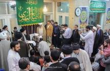 مراسم جشن نیمه شعبان و عمامهگذاری طلاب توسط مرجع عالیقدر حضرت آیت الله العظمی صافی گلپایگانی.