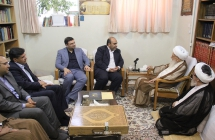 دیدار دکتر محمدرضا کلایی، شهردار مشهد مقدس با حضرت آیت الله العظمی صافی گلپایگانی